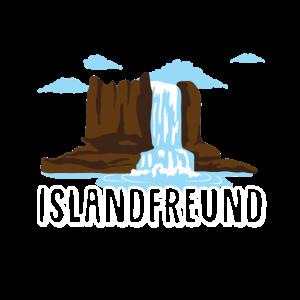 Islandfreund Wasserfall