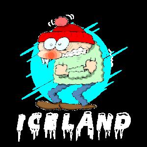 Island Iceland Kälte