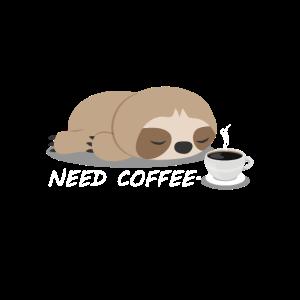 Faultier Kaffee Tier