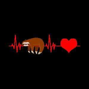Faultier Herzschlag