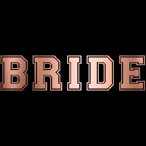 College Bride Kupfer Braut