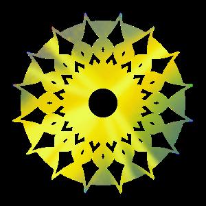 Gold Geometrie Mandala