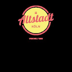 Köln Altstadt Logo Veedel Design T-Shirt