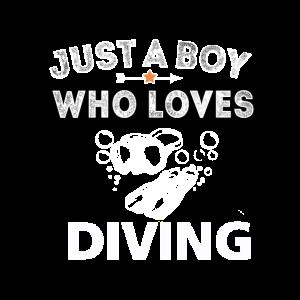 Taucher Junge Tauchschein Unter Wasser Tauchen