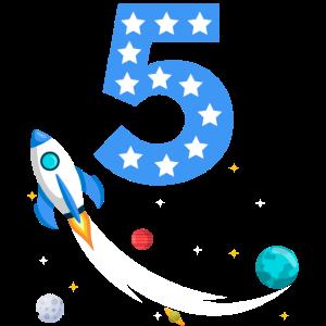 5. Geburtstags Geschenk Astronaut Weltraum