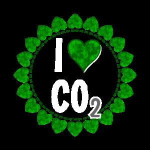 I love CO2 - Liebe Co2 Kranz aus grünen Herzen