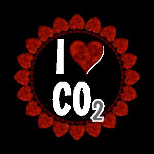 I love CO2 - Liebe Co2 Kranz aus roten Herzen