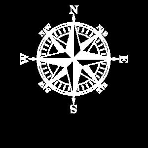 Compass Windrose alle 4 Himmelsrichtungen