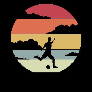 Fußball Retro Motiv