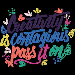 Kreativität ist ansteckende Geschenk-Kreativität