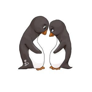 Twee verliefde pinguïns