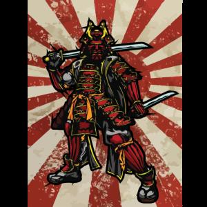 Shougun Samurai Krieger cooles japanisches Design