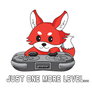 one more level | gaming fox | funny gamer Design