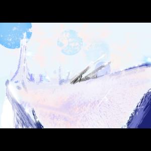 Grafik, Dekor im Schnee