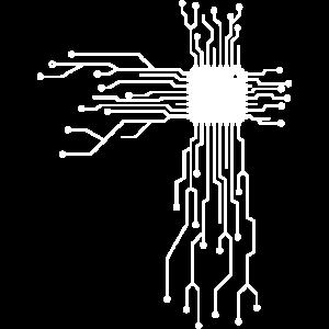 Platine Circuitboard mit CPU Computer Design