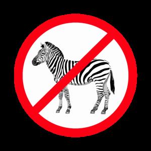 Stop No Zebra