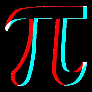 Pie Pi Number 3D effect Filter tik tok red blue