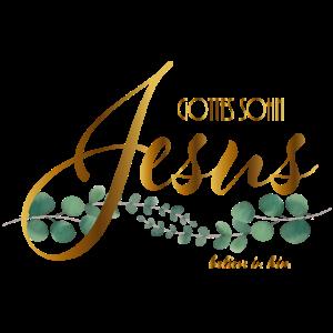 Jesus Gottes Sohn mit verschlungenem Eukalyptus