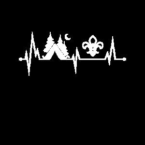 Herzschlag Pfadfinder und Camper Geschenkidee
