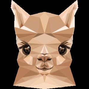 Süßes Alpaka Polygon Stil