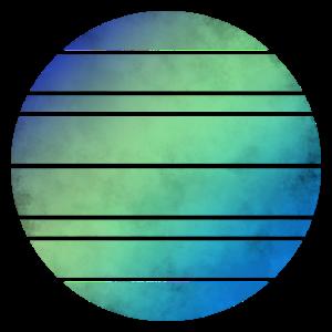 Kreis, Blau, Grün, Striche