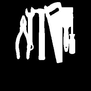 Weißes Werkzeug Geschenk für Handwerker