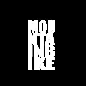 Mountainbiker Typografie