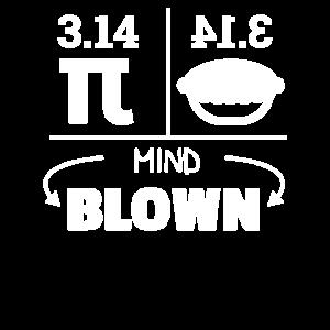 Mind Blown Pi Pie Reversed Math Lover 3.14