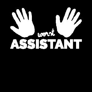 Worst Assistant Zwei Linke Hände Helfer Geschenk