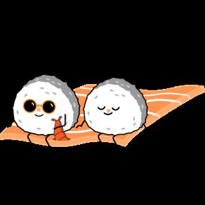 Sushi Paar auf fliegendem Teppich