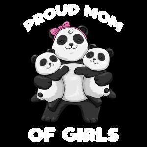 Panda proud mom of Girls Mama Pandabär Muttertag