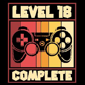 Level 18 Complete - Gamer, Geburtstag