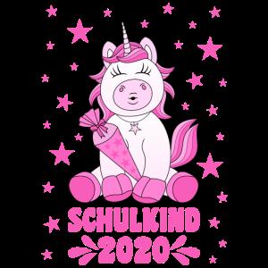 Schulkind 2020 Einschulung Schule Einhorn Kussmund