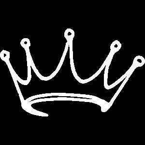 Krone Vektor Geschenk Design gezeichnet
