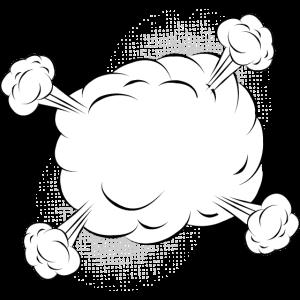 Leere Comic Kampf Wolke für eigene Texte & Motive