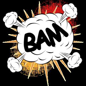 Bam Comic Kampf Wolke für eigene Texte & Motive