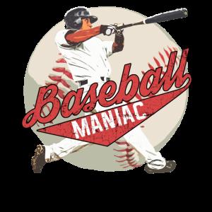 Baseball Maniac Spruch Design mit Batter