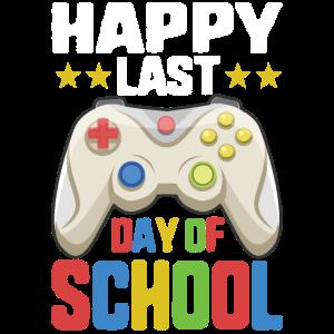 Glücklicher letzter Tag der Schule Vintage Video Gamer