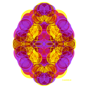 Chakra-Blüte Gold-Violett
