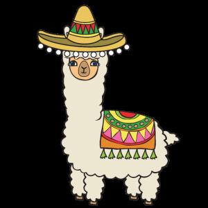 Alpaka mit Hut.