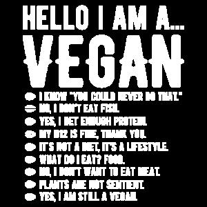 Hello i am a Vegan Veggie Geschenk