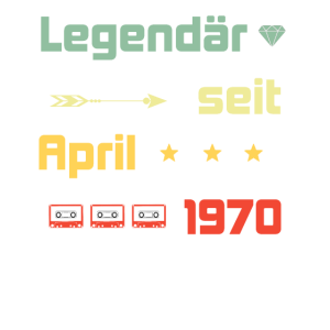 Legendär seit April 1970 - Design 50. Geburtstag