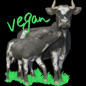 Kuh mit Kalb - vegan