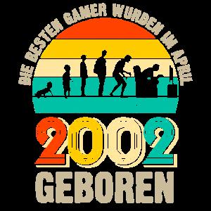 18 Gamer Zocker Geburtstag Jahrgang 2002 Geschenk