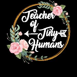 Lehrer für kleine Menschen Blumen Lehrer