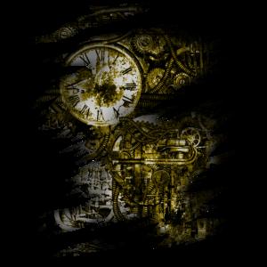 Steampunk Körper Zahnrad Motor Dystopie