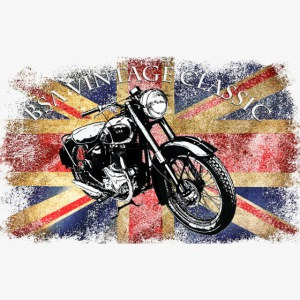 Vintage famous Brittish BSA motorcycle icon