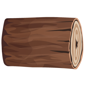 Holzklotz braun liegend