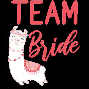 Team Bride Braut Alpaca Lama Alpaka JGA Party