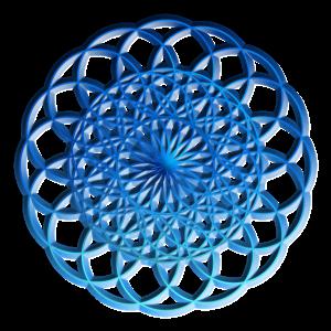 Blaue Geometrische Kreise